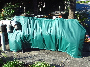 "Backflow Blanket  50""H x 84""L Green"